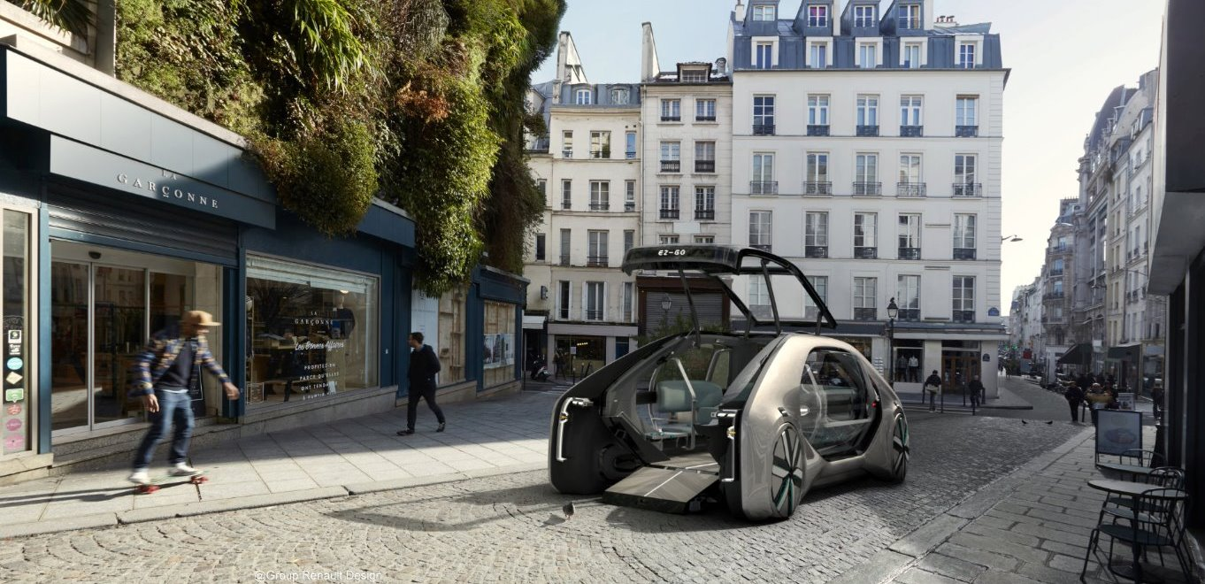 Renault Render Concept Car in Iray for Maya image